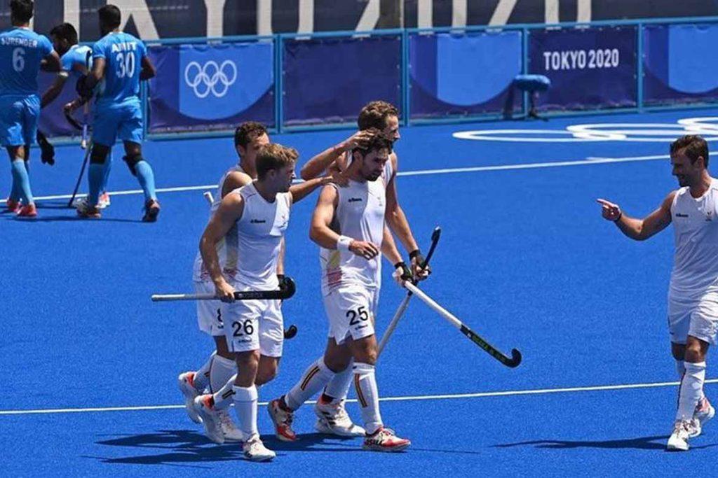 belgium celebrating goal